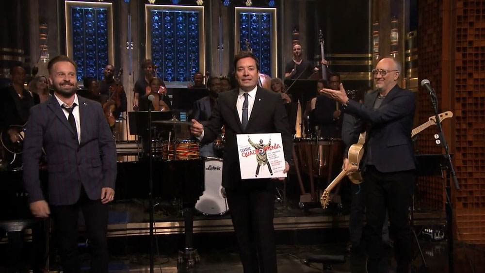 Pete Townshend and Alfie Boe perform on the Tonight Show