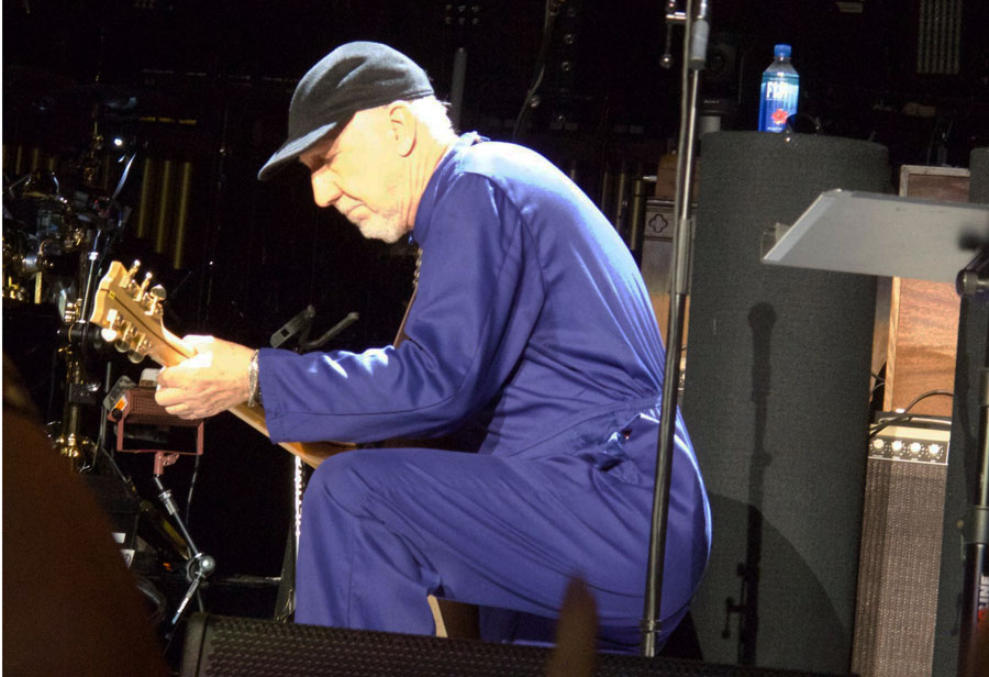 Pete wearing boiler suit on tour