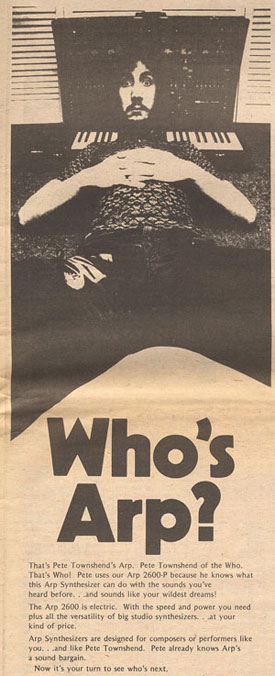 Fast Color Entertainment Memorabilia Pete Townshend Chinese Eyes Original 1982 Atco Records Promo Poster!!